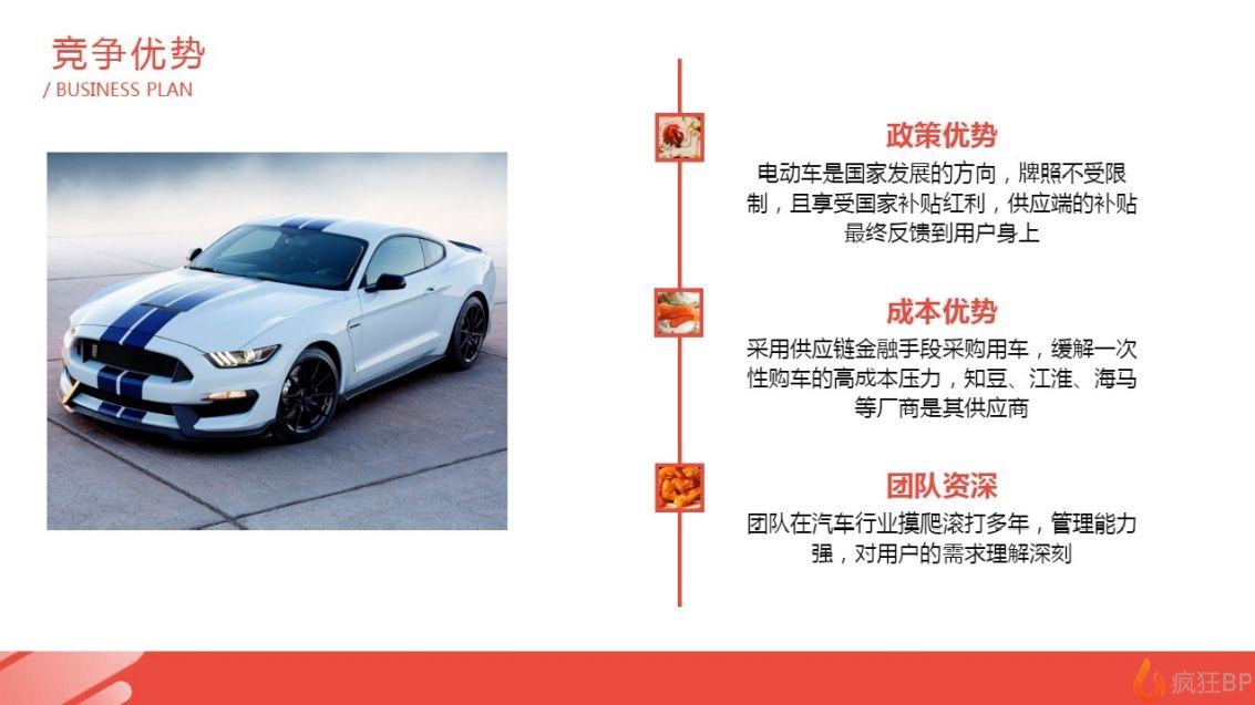 共享汽車商業計劃書范文競爭優勢